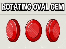 rotating oval gem