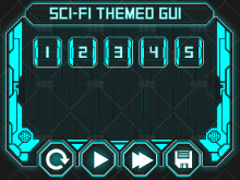 sci fi userface theme