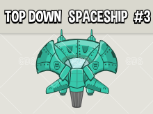 top down space ship style three