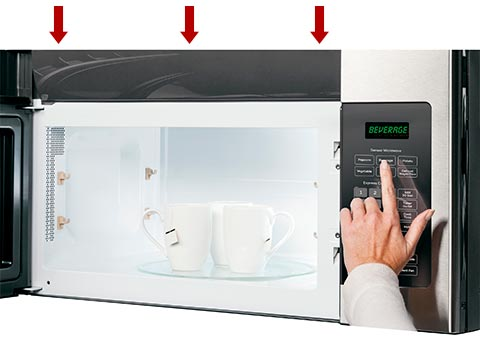 Charcoal Filter Replacement: Microwaves with Grille Behind Door