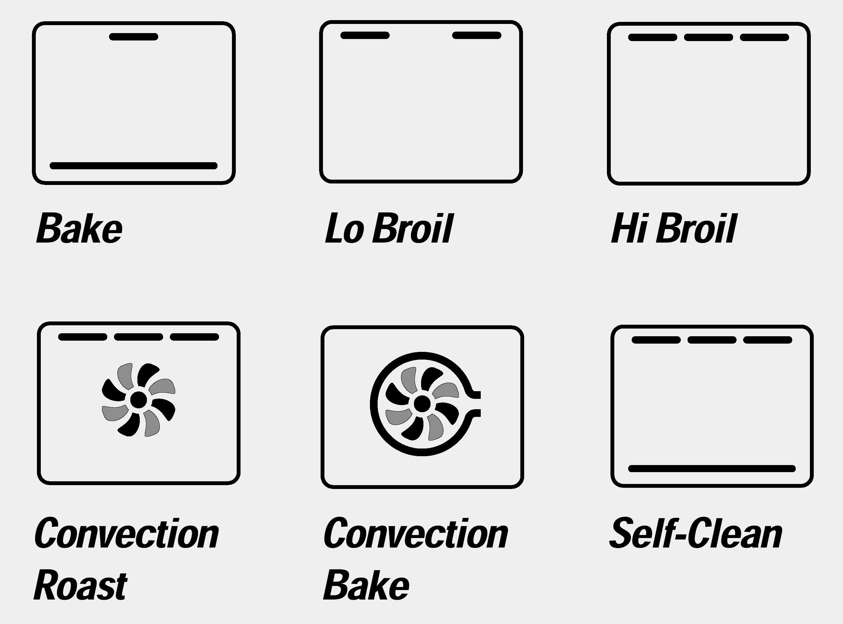 Oven Function Icons