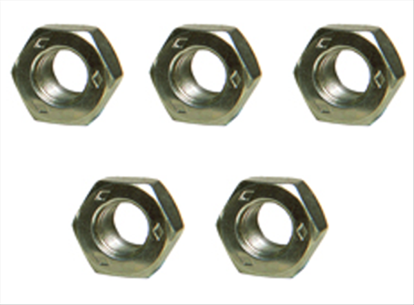Set of 5 Diamond stamped 7/16-20  lug nuts. Reproduction.