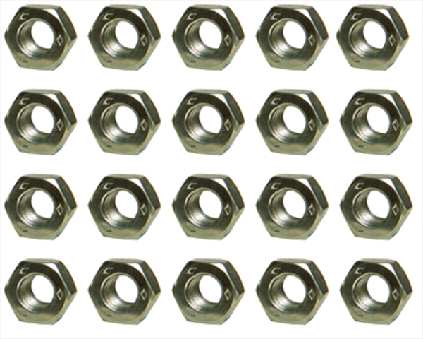 Set of 20 Diamond stamped 7/16-20  lug nuts. Reproduction.