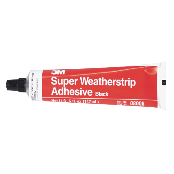3M weatherstrip adhesive,  5 oz. tube. Black.