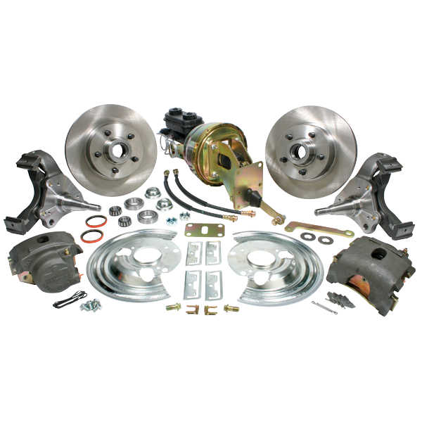 Classic Performance Products complete front power disc brake conversion kit for 1963-1974 Mopar A/B/E models.  Use with a minimum wheel size of 15 inch