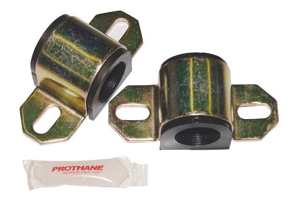 Prothane black front sway bar frame bushings and bracket set fits 7/8 diameter (.875) sway bar. Color : Black