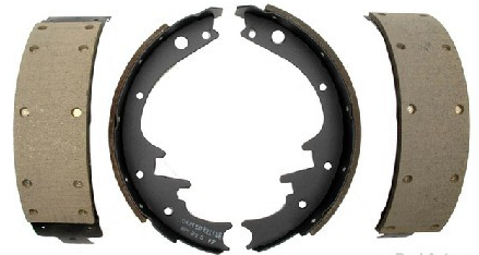 Rear brake shoes for cars with 10 x 2 1/2 brakes.