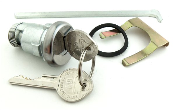 Trunk lock for 1962-1967 models with early-style key.