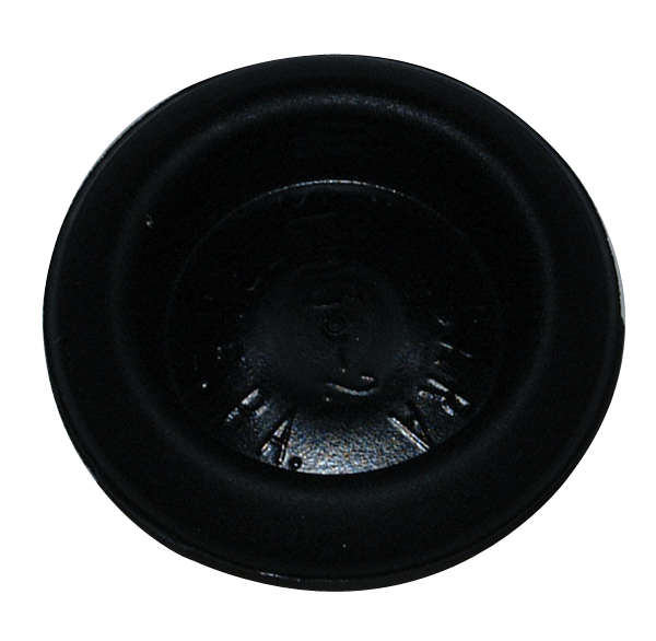 Individual body plug, measures 1 diameter, reproduction.