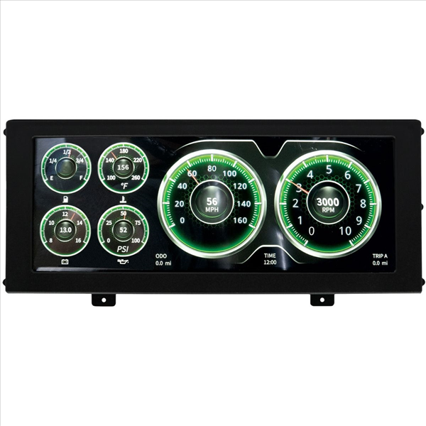 Auto Meter InVision Universal LCD Gauge Panel.