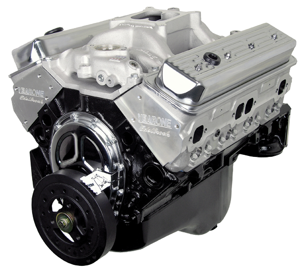 Year One Power Crate aluminum head 400hp 350 crate engine assembly.