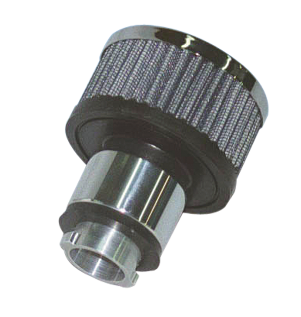 Metco tab-type breather fits Chevrolet small-block V8 through 1988.