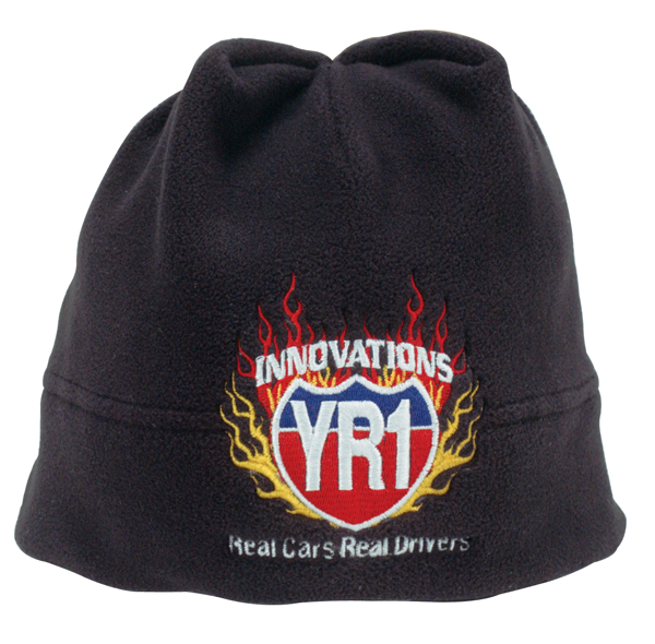 YR1 Innovations flame beanie cap. Color : Black
