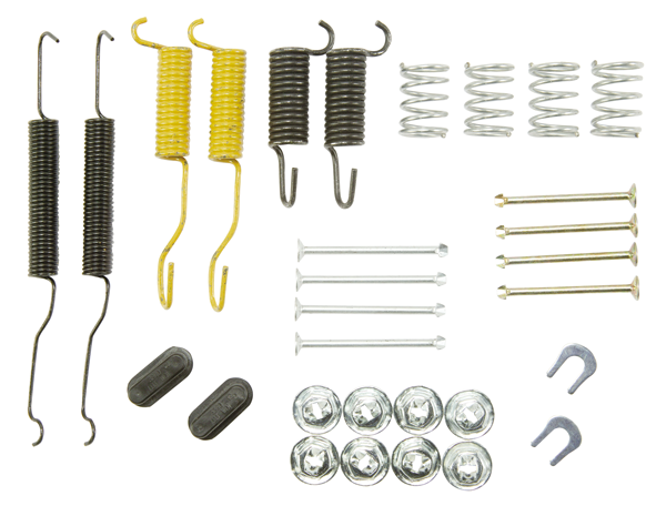 Brake hardware kit fits 1969-1974 B-body models with 10 drum brakes, front or rear.