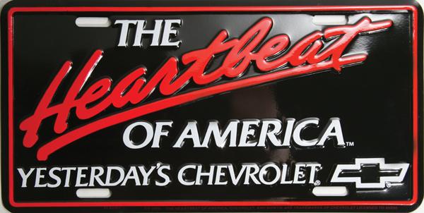 """Yesterday's Chevrolet"" logo specialty license plate."