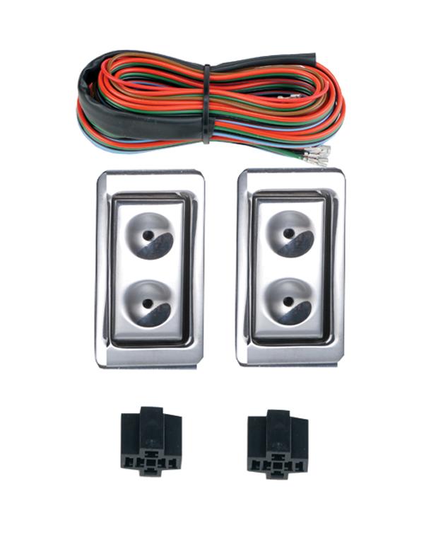 Electric life 99020 billet bmw red illuminated 2 door for 2 door power window switch kit