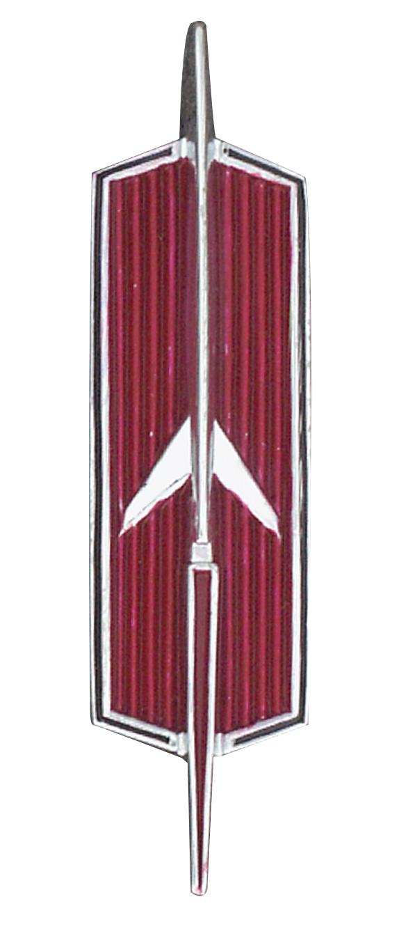 196472 cutlass 442 front fender rocket emblem 1967