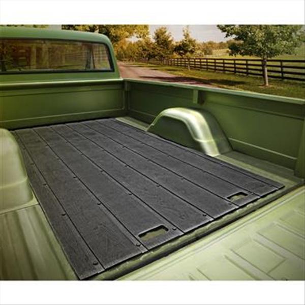 Vintage Universal 8 Foot Length Vintage Truck Bed Mat. Black