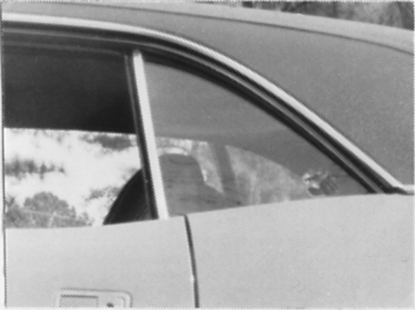 Quarter glass weatherstripping, 1966-1967 B-body coupe and 1968-1970 B-body convertible, reproduction.