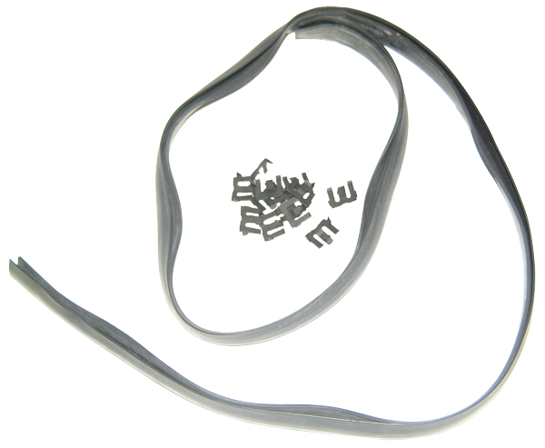 Hood-to-cowl seal, 1970-1974 E-body models, reproduction.