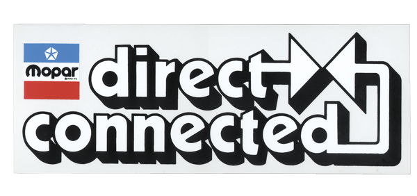 "Chrysler ""Direct Connected"" decal, aftermarket."