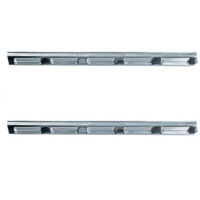 Flat finish sill plates for 1967-1976 A-body models. Sold as a pair.