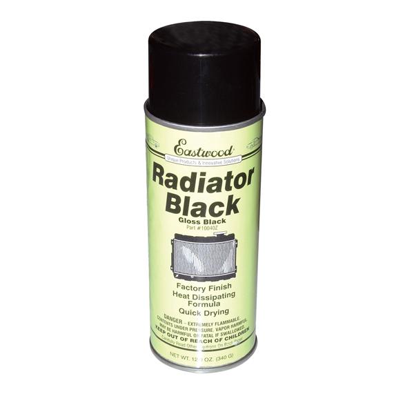 Radiator gloss black, 12-oz aerosol.