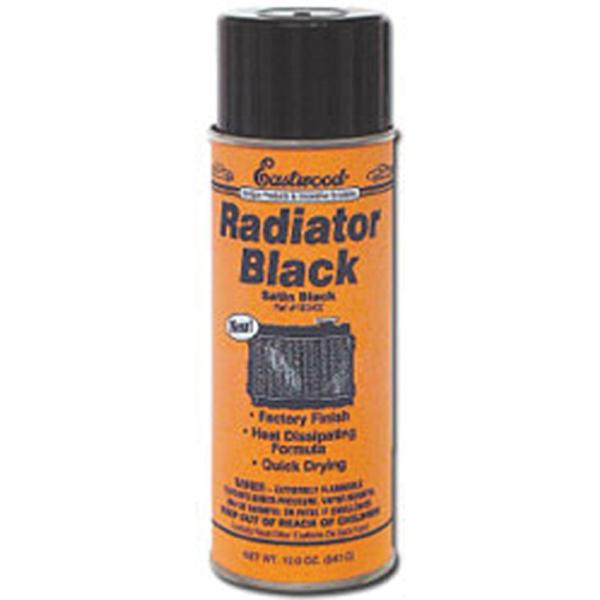 Radiator satin black, 12-oz aerosol.
