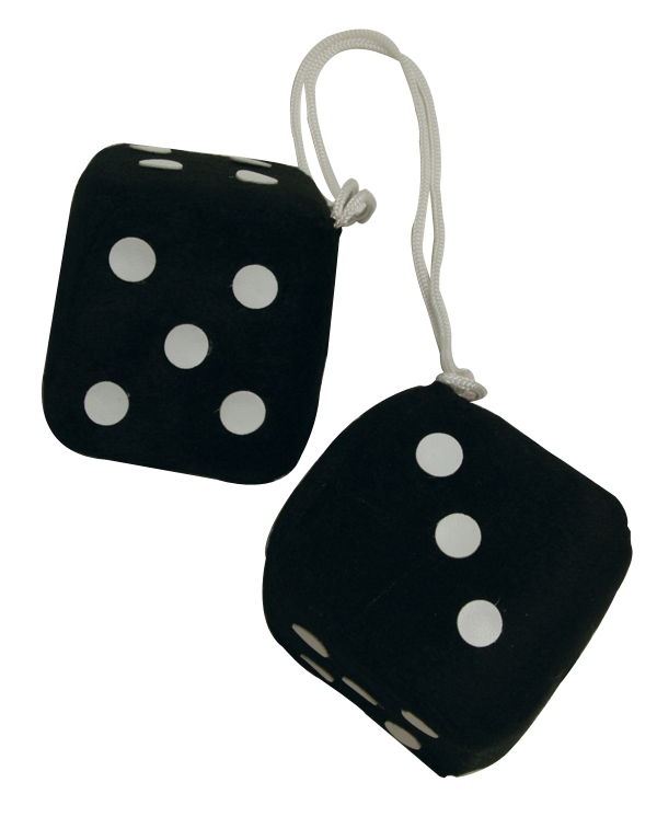 Fuzzy dice: Black Color : Black