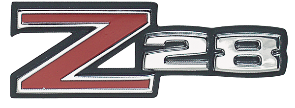 Grille emblem, 1973 Z/28 models, reproduction.