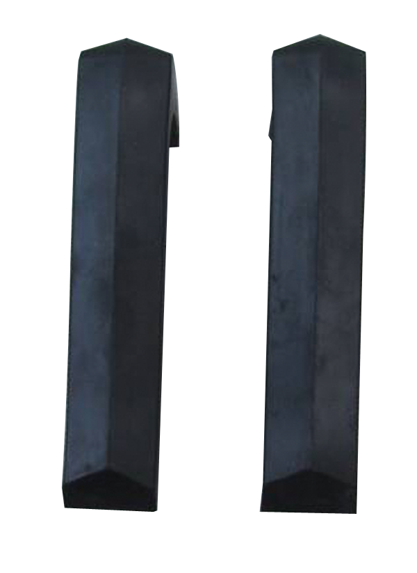 Rubber bumperette pair fits front and rear of 1967-69 Dodge Dart models.
