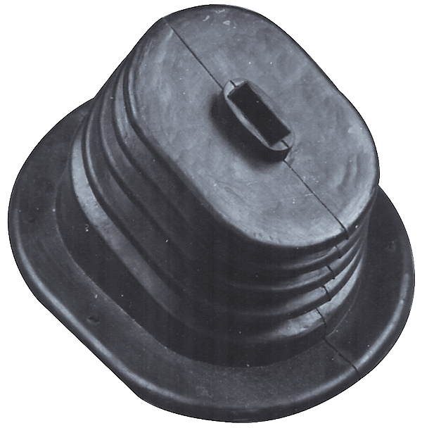 1970 B-body, lower shifter boot. Use with trim ring # MM1101.