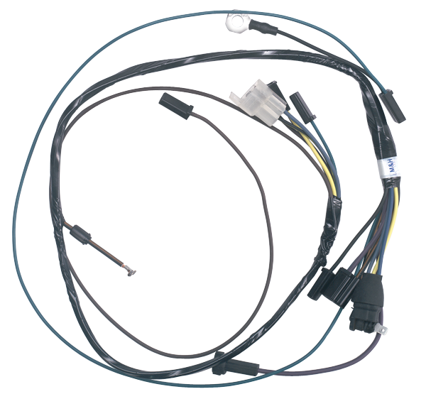 l04940 1964 72 chevelle monte carlo el camino electrical harnesses air conditioner wire harness for 1999 f 350 at gsmx.co