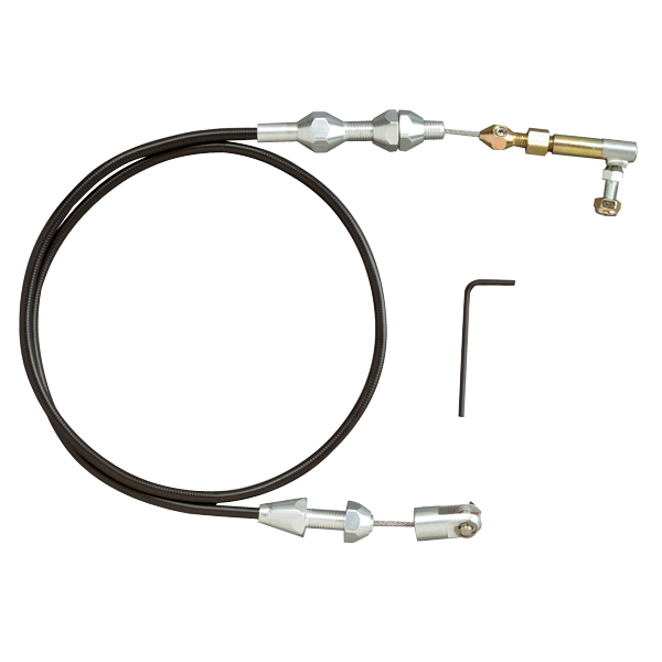 Cut To Fit Throttle Cable : Lokar tc u cut to fit black throttle cable