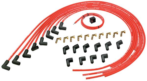 937 Mallory Pro Sidewinder 8mm universal spark plug wire set on