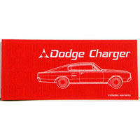 Reproduction owner's manual for 1967 Charger models.