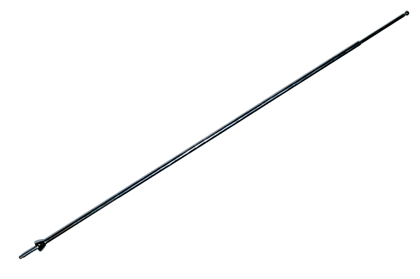 60 telescopic antenna mast for 1968-1971 A-, B-, 1968-1970 C- and 1970-1971 E-body models.