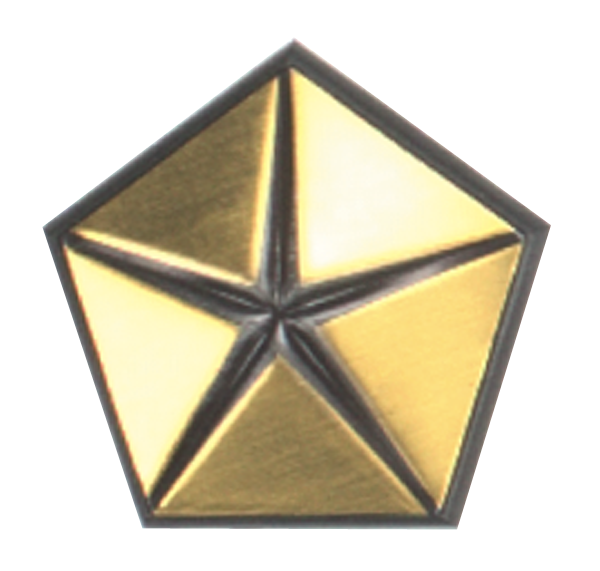 RH fender emblem, 1970-1974 E-body models, reproduction.