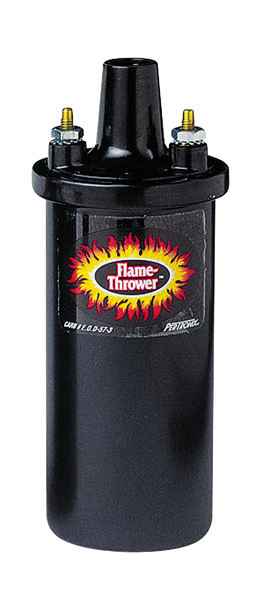 Pertronix Flame-Thrower II coil. Black.