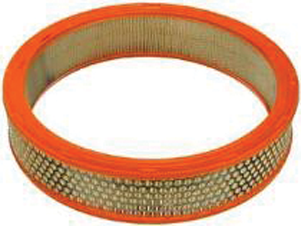 Reproduction air filter for 1968-1976 Mopar A-body, 1968-1974 B-body & 1970-1974 E-body models with 4-bbl carburetor except 1968-1969 B-body with 383/440 & snorkles.