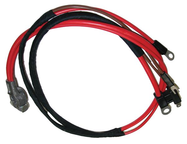 Positive battery cable, 1968-1970 Mopar B-body with 383 / 440 V8.