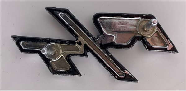1970 Charger R/T tail panel emblem.