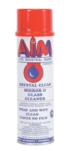 Glass cleaner. 19-oz. spray can.