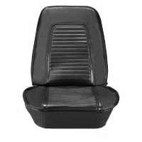 Front bucket seat covers for 1969 models with Standard interior. Color : Black