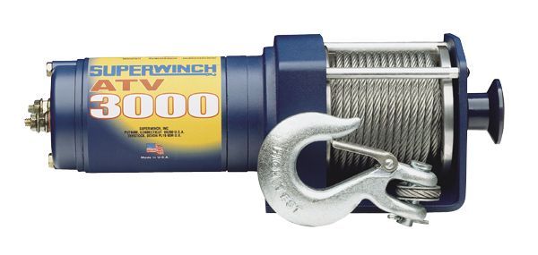 Superwinch ATV 3000 12-volt DC winch with 11 hp mo