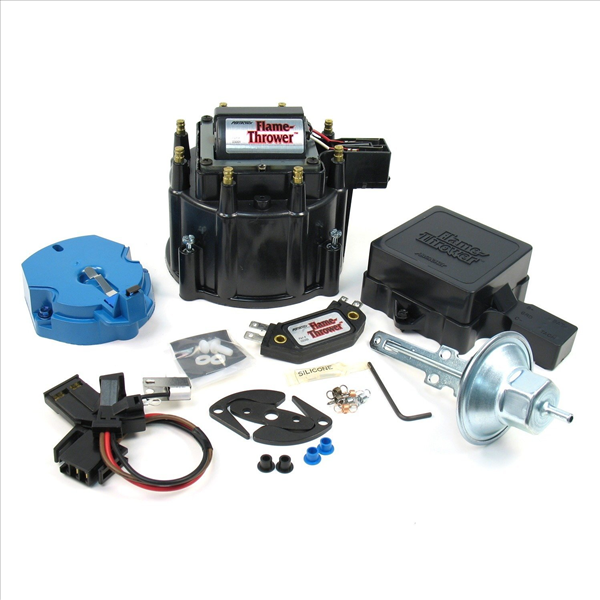 Pertronix HEI tune-up kit with black distributor cap for Buick, Oldsmobile, Pontiac & some Chevy V8.