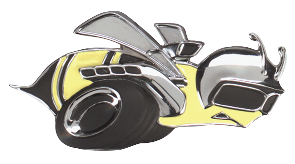 Reproduction BEE grille emblem for 1969 Super Bee models.