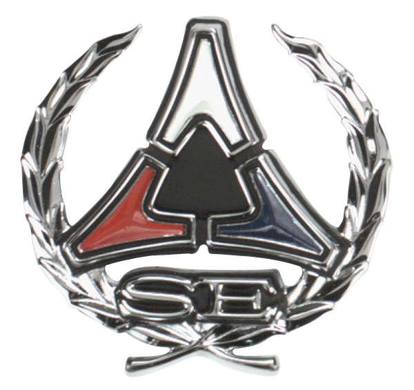 1971-1972 Charger and 1970-1971 Challenger SE sail panel emblem. Sold individually, use 2 per car. 3444937