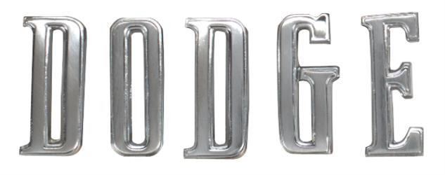1970 -1974 Challenger DODGE  hood letters set. Includes hardware.
