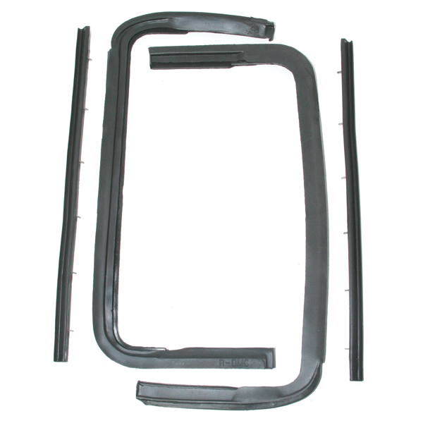 Vent window seals for 1955-57 Chevrolet coupe, convertible, and Nomad models.